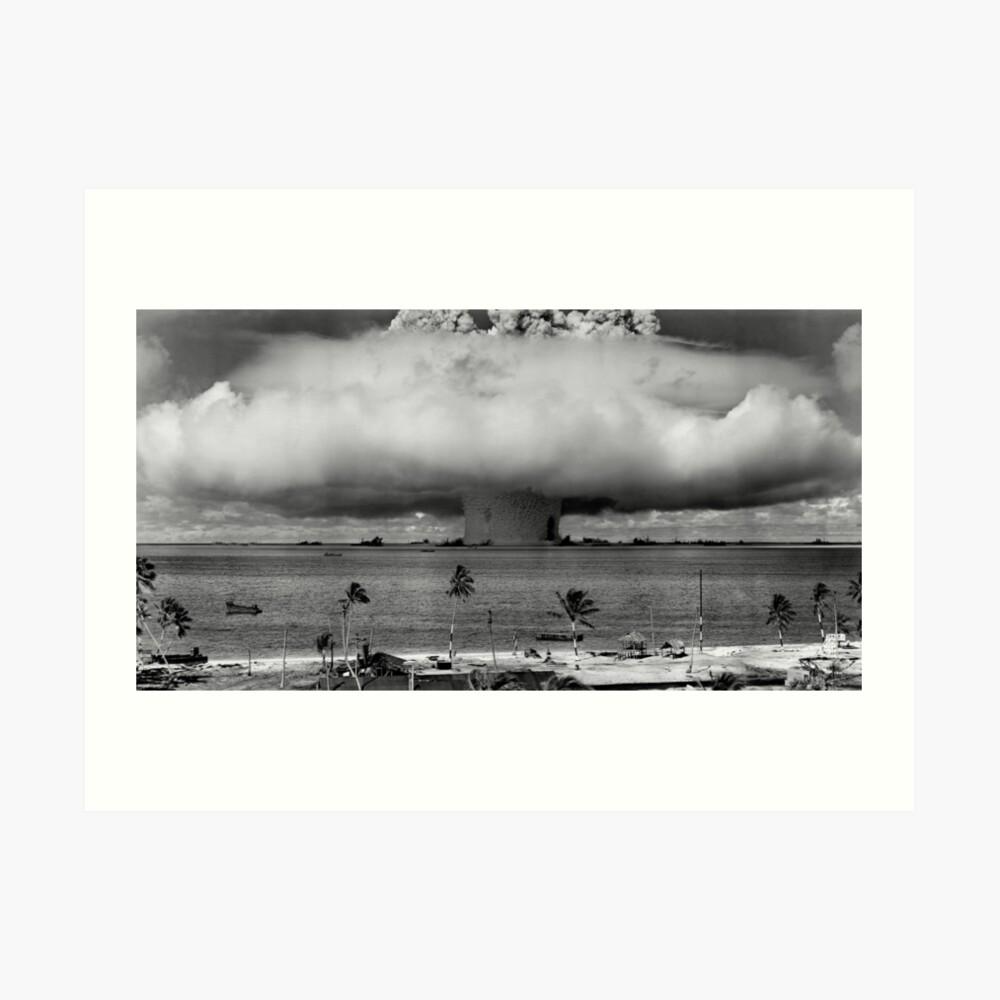 Atombombenpilz Cloud Operation Crossroads Baker Test Kunstdruck