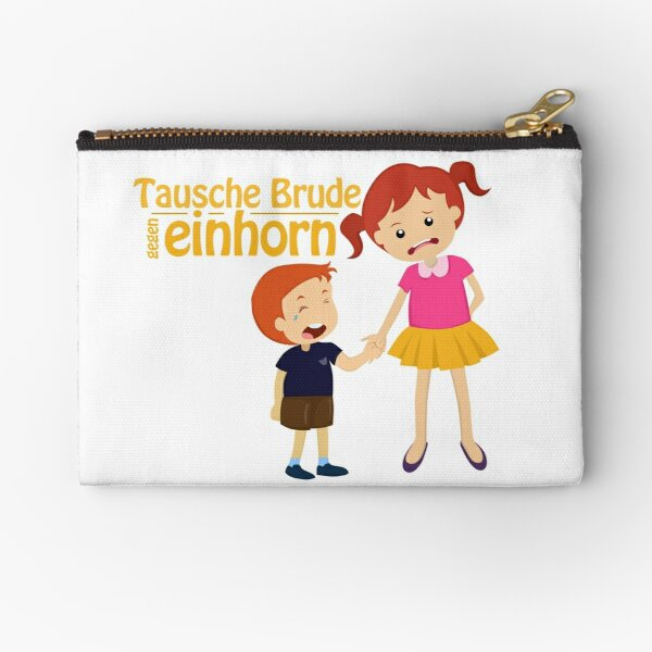 Siblings swap brother for unicorn Zipper Pouch
