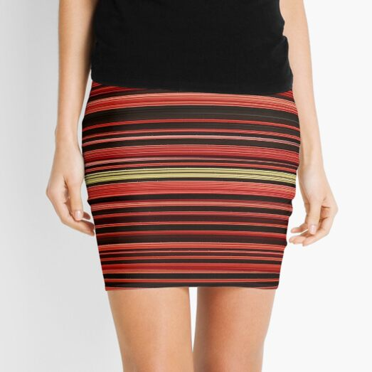 OpticalIllusion, VisualPhenomena, structure, framework, pattern, composition, frame, texture Mini Skirt