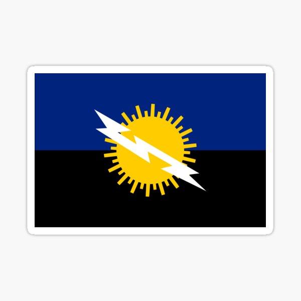 Bandera del Estado Zulia, Venezuela. Pegatina