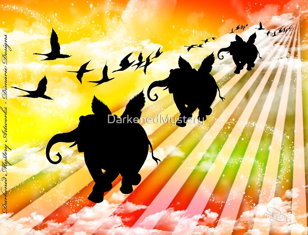 Elephant Train by DarkenedMystery