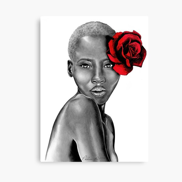 Uzuri Red | The Beauty Collection Canvas Print