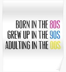 Born in the 80s Grew Up in the 90s Adulting in the 00s Poster