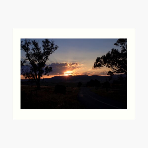Canberra Sunset Art Print