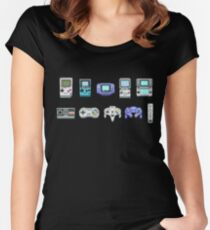 Nintendo Family 8-bit  Women's Fitted Scoop T-Shirt