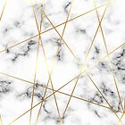Marble Texture with Gold Accent by SoNifty