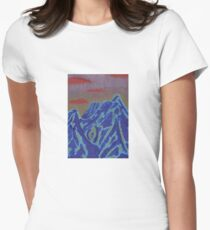 Blue Mountain Sunset Women's Fitted T-Shirt