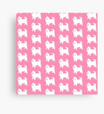 Pink West Highland Terrier Pattern Canvas Print