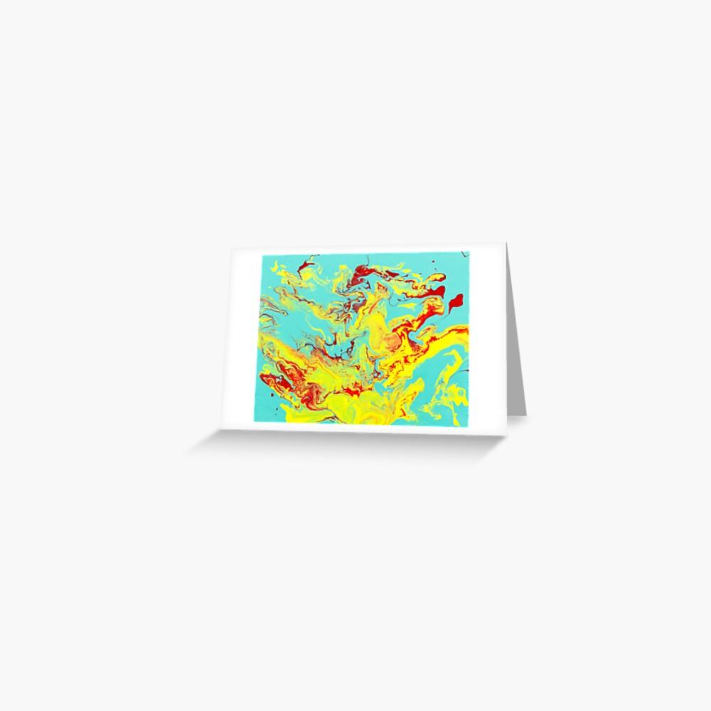 Splashing Down - An Abstract Piece Greeting Card
