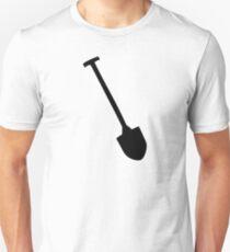 Black shovel icon spade Unisex T-Shirt