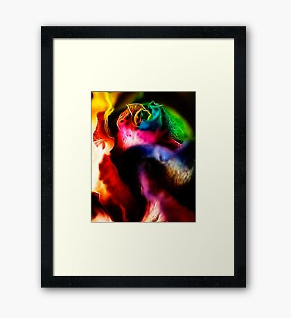 Hybridic Pached Fractalious Framed Print