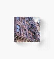 Greenwich Village Architectural Details Acrylic Block