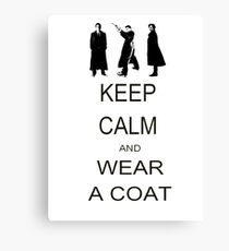 Keep Calm Canvas Print