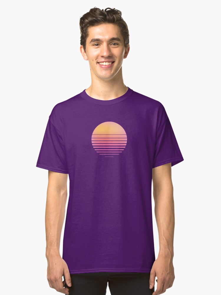 Alternate view of Vaporwave Sun - Outrun/Synthwave/Retro Classic T-Shirt