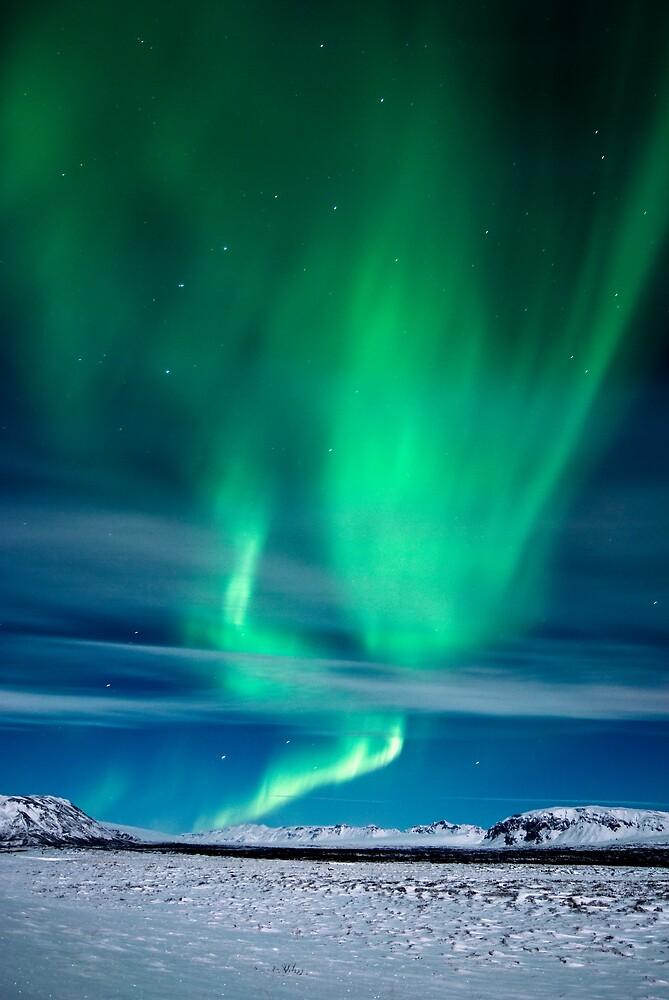 Aurora Borealis over Mosfellsheidi by Stefán Kristinsson