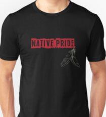 Native Pride with Feathers Unisex T-Shirt