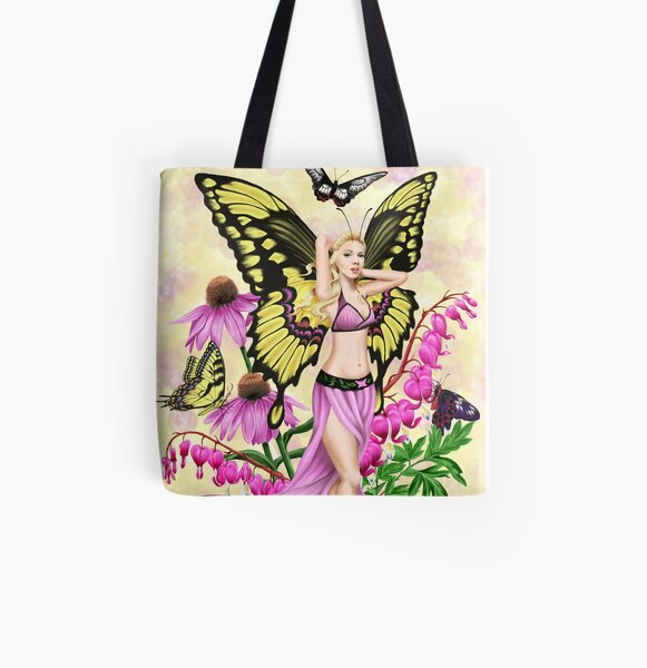 Butterfly Beauty Fairy All Over Print Tote Bag