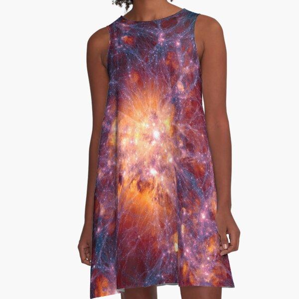 Exuberant, colorific, ornate, gorgeous, vintage, prestigious, harmonious, harmonic A-Line Dress