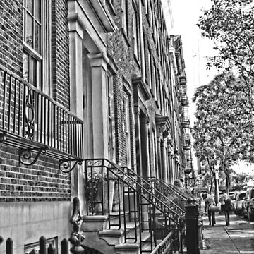 Greenwich Village - Black And White Street by amandavontobel
