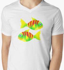 FISHY T-Shirt Mens V-Neck T-Shirt
