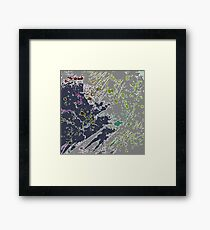 Cool Perspective - Gray Green Framed Print