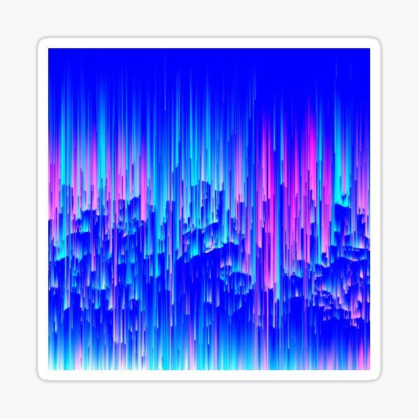 Neon Rain - Digital Abstract Sticker