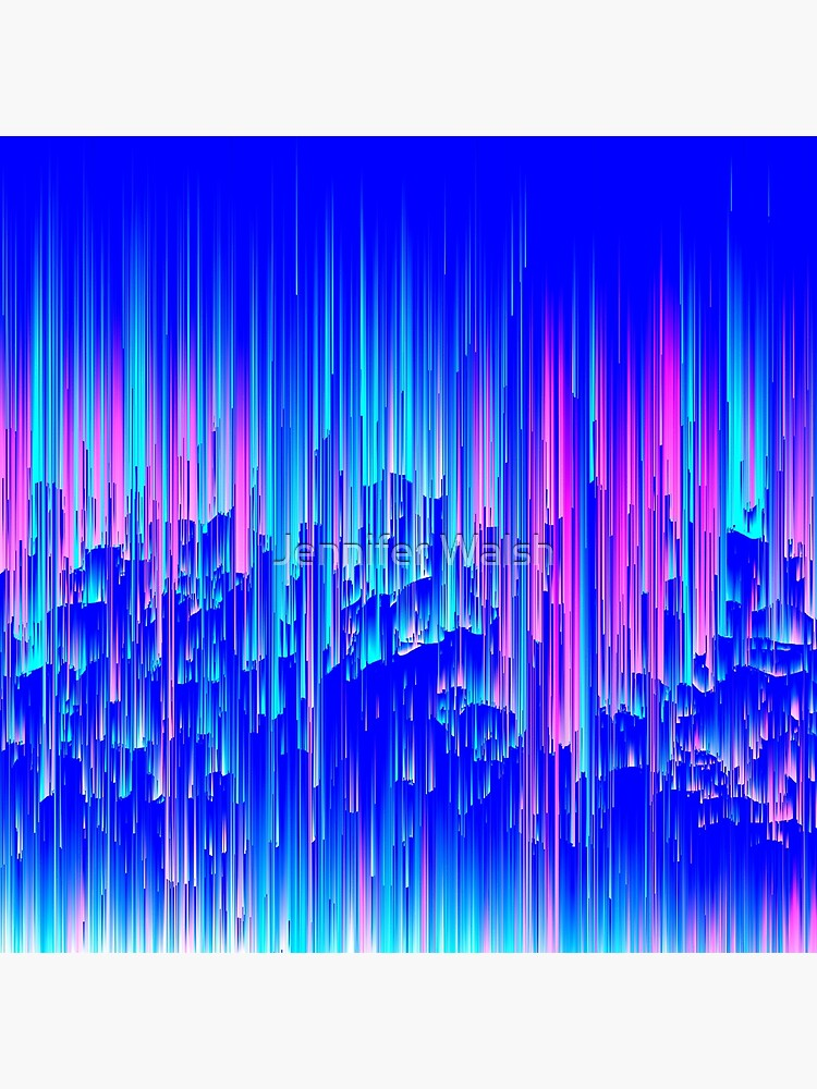 Neon Rain - Digital Abstract by InsertTitleHere