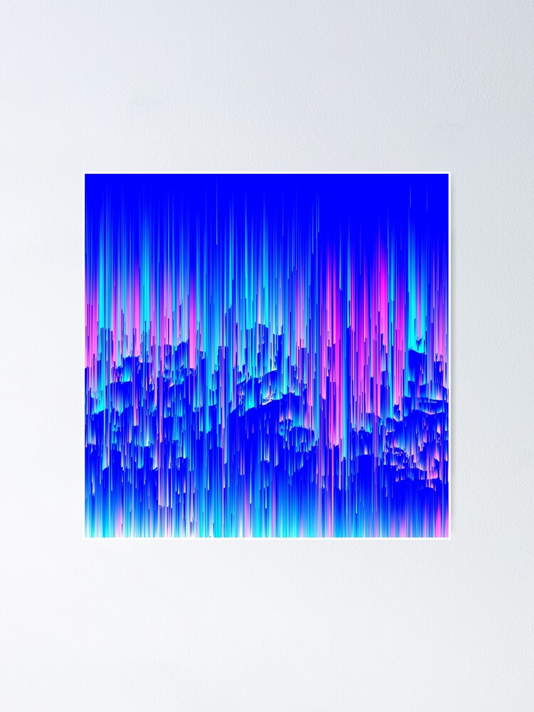 Alternate view of Neon Rain - Digital Abstract Poster