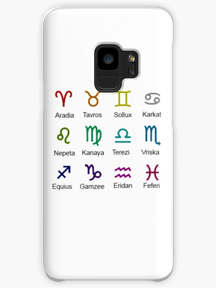 Homestuck Troll Zodiac Symbols Cases Skins For Samsung Galaxy By