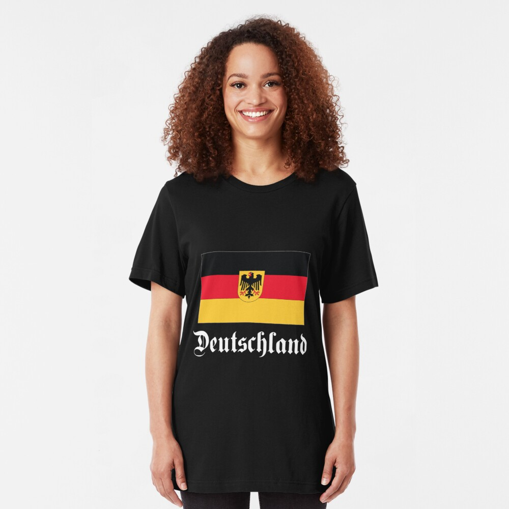 Deutschland - dark tees Slim Fit T-Shirt