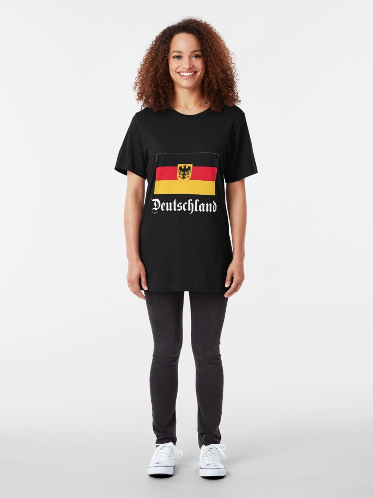Alternate view of Deutschland - dark tees Slim Fit T-Shirt