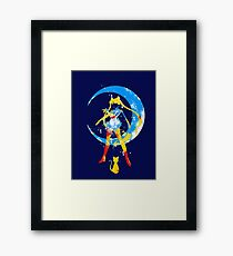 moon splash Framed Print
