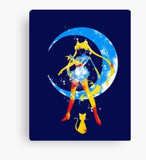 moon splash Canvas Print