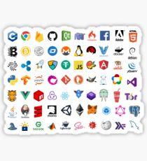 Entwicklerikonen, Open-Source-Projektlogos, Web-Unternehmen Sticker