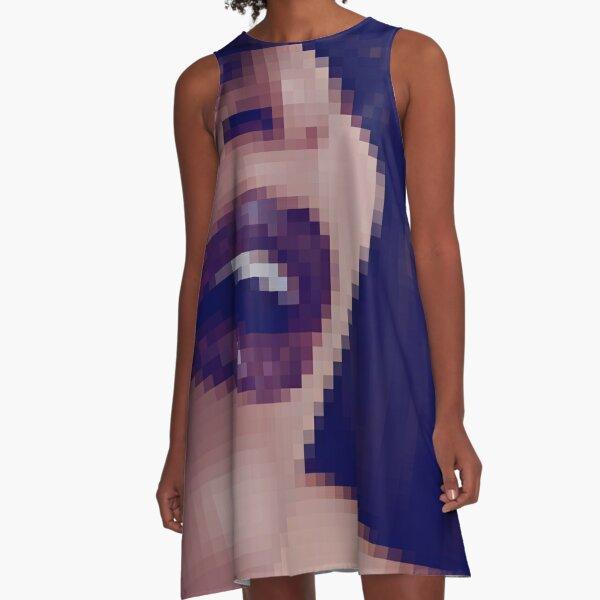 OpticalIllusion, VisualPhenomena, structure, framework, pattern, composition, frame, texture A-Line Dress
