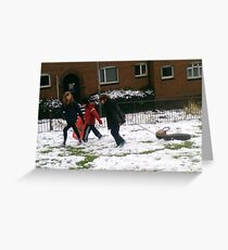 An education in sledging Greeting Card