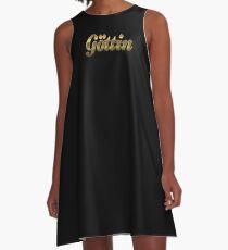 Goddess gold A-Line Dress