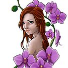 A girl in orchids by MadameCat-Art