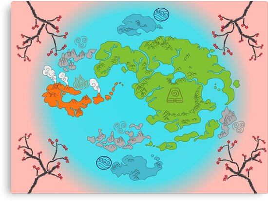 Avatar the Last Airbender Map\