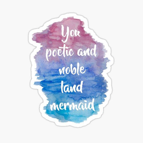Poetic Noble Land Mermaid Watercolor Sticker
