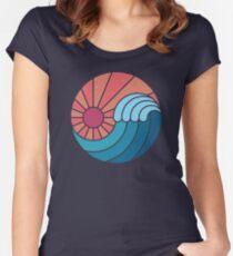 Sonne und Meer Tailliertes Rundhals-Shirt