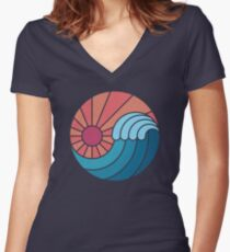 Sun & Sea Women's Fitted V-Neck T-Shirt