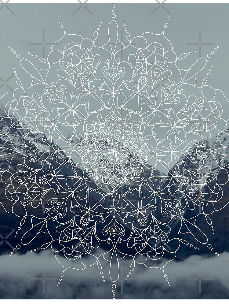 Berg-Mandala von krisdrawsthings