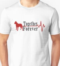 Cute Together Forever Pitbull T-shirt - Pitbull Lovers Unisex T-Shirt