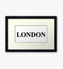 European City's - England Capital - London Framed Print