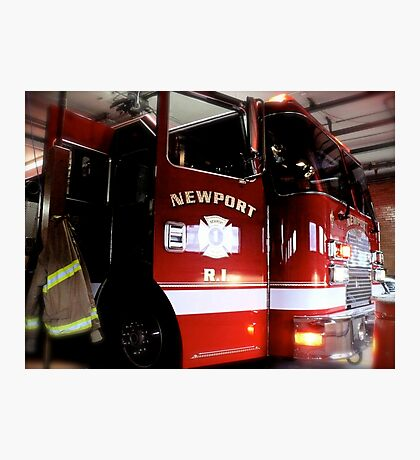State of the Art Fire Engine in the Newport Fire Station Photographic Print