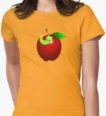 Apple Red Womens Fitted T-Shirt