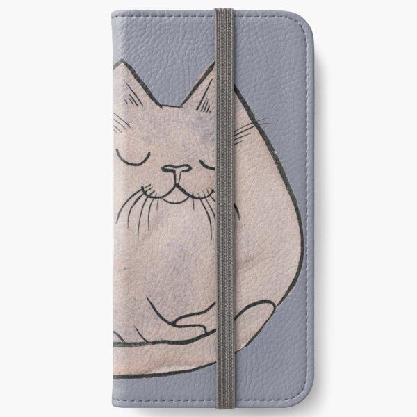 Sleepy Kitty Lump iPhone Wallet