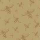 Colour Bee Print by behughesuk