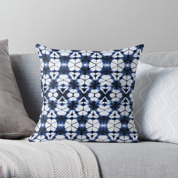 Indigo Tie Dye Pattern Throw Pillow